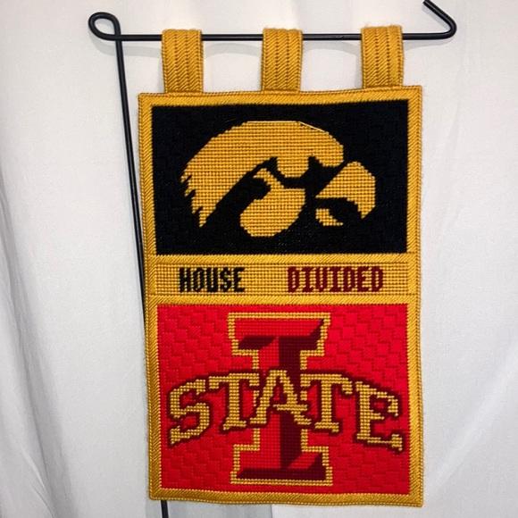 Iowa State Iowa House Divided NCAAF Garden Flag